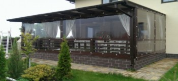 Transparent and protective curtains for arbors and verandas-0
